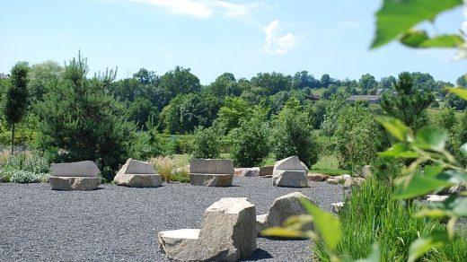 Labyrinthe géant des jardins de Colette